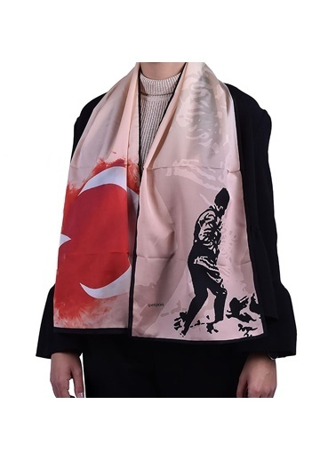 İpekpark  Atatürk Serisi Fular Somon